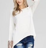 Fleurish Home Sequin Detailed Knit Top *LAST CHANCE
