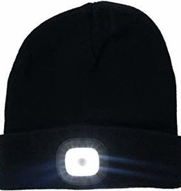 Night Scout Night Scout Flashlight Black Knit Beanie Hat