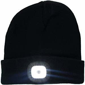 Night Scout Night Scout Flashlight Black Knit Beanie Hat