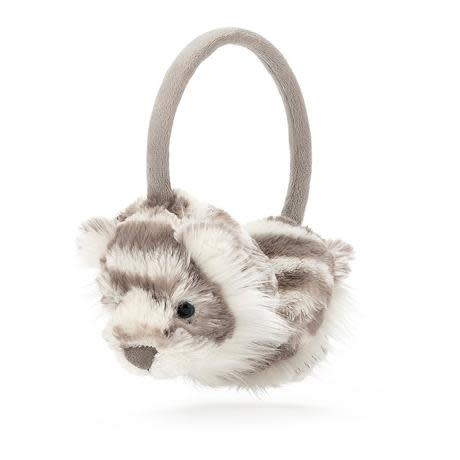 Jellycat Sacha Snow Tiger Earmuffs