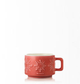 Thymes Dark Chocolate Small Hot Cocoa Mug Poured Candle