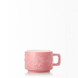 Thymes Small Raspberry Hot Cocoa Mug Poured Candle