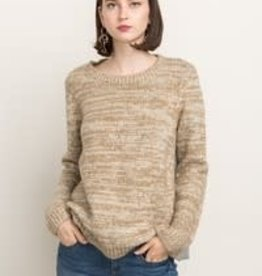 Fleurish Home Sweater Front w Chambray Split Back Pullover