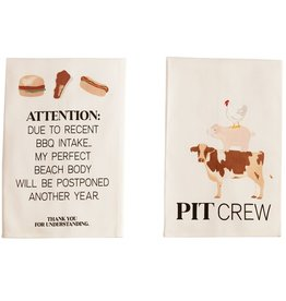 Mudpie ATTENTION BBQ COTTON TOWEL