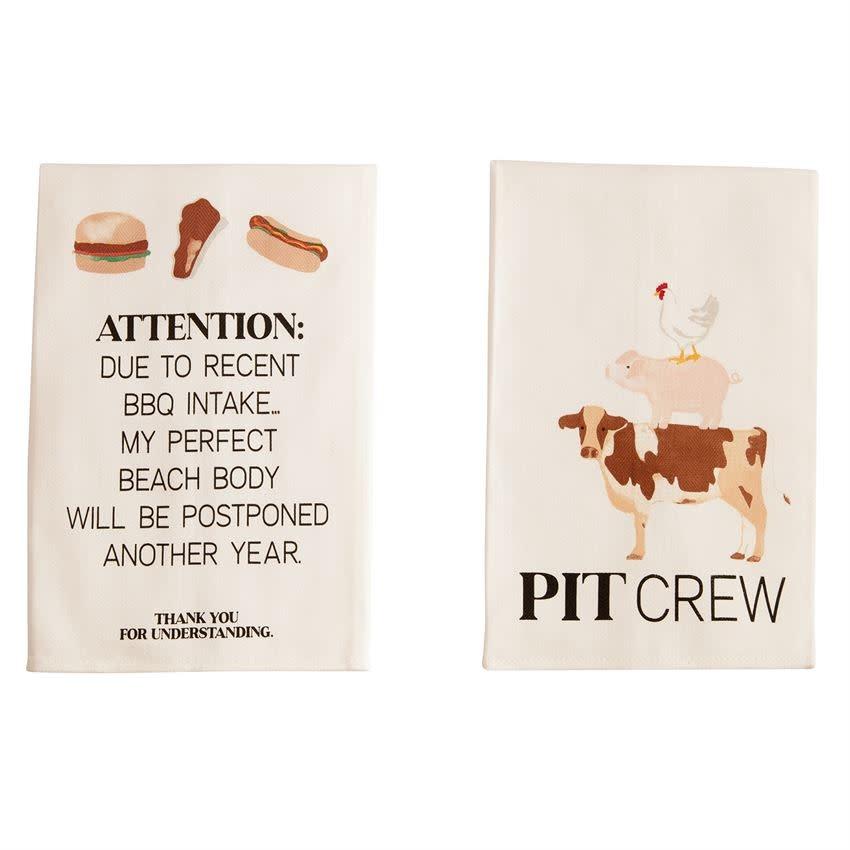 Mudpie PIT CREW BBQ COTTON TOWEL *last chance
