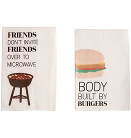 Mudpie BURGERS BBQ COTTON TOWEL *last chance