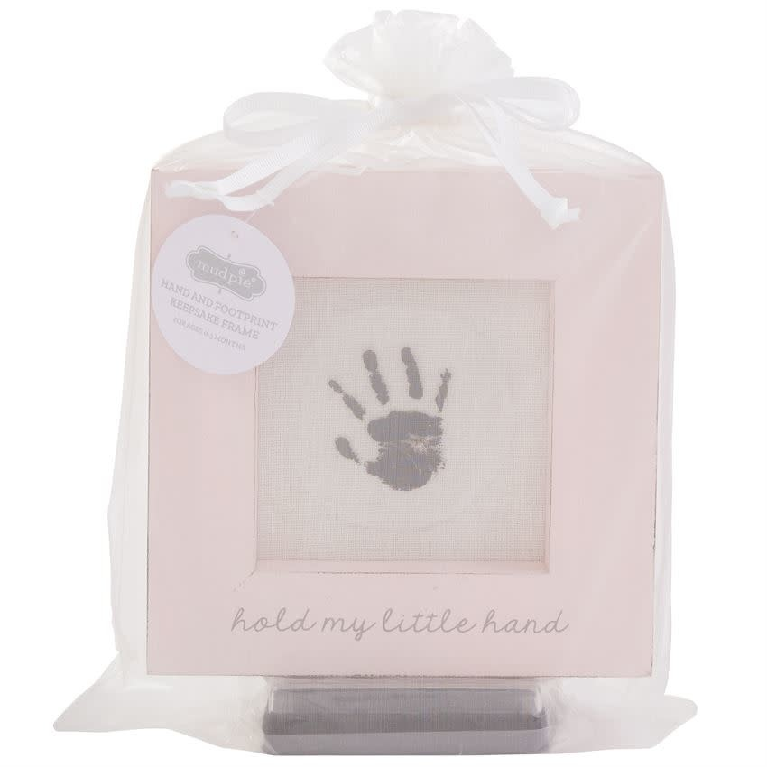 Mudpie PINK HAND AND FOOT PRINT FRAME
