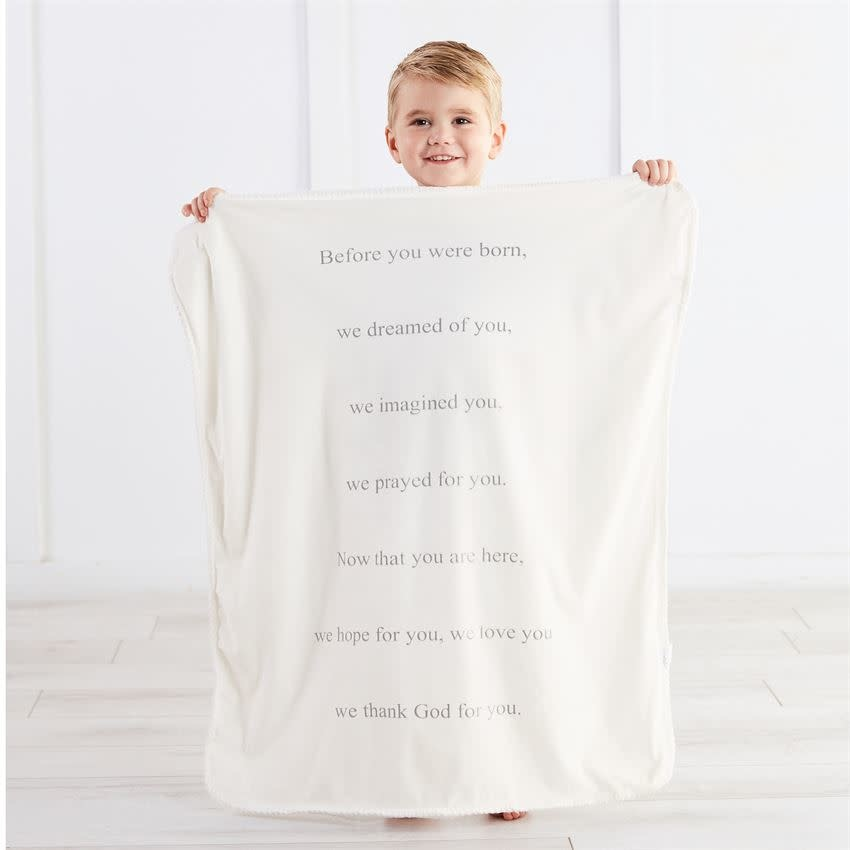 Mudpie PRAYER SHERPA BLANKET
