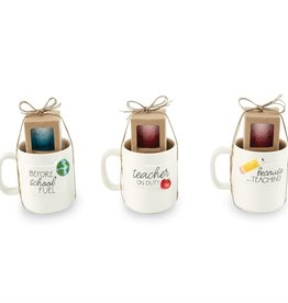 Mudpie APPLE TEACHER MUG AND SHOT SET