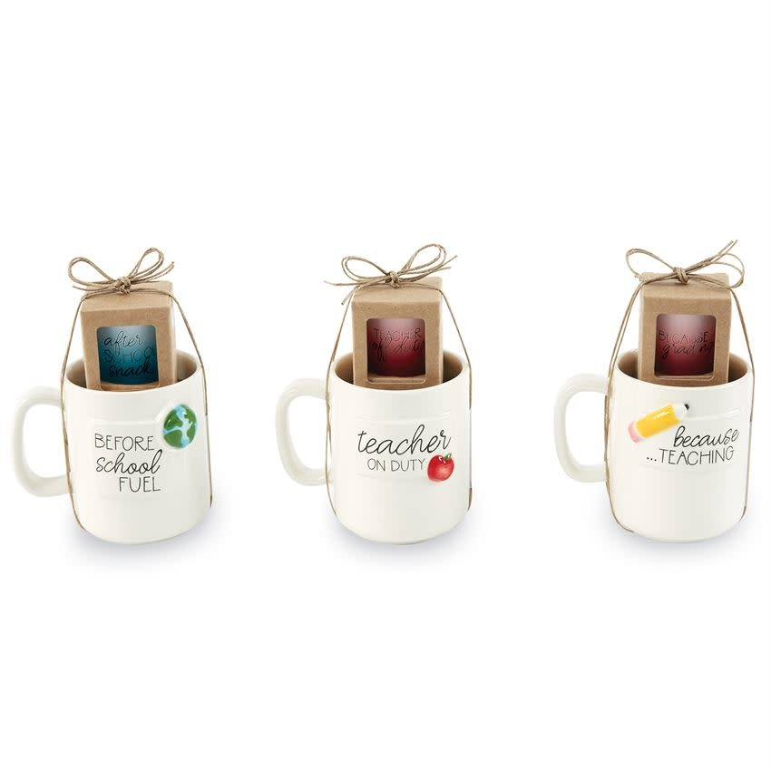 Mudpie GLOBE TEACHER MUG AND SHOT SET