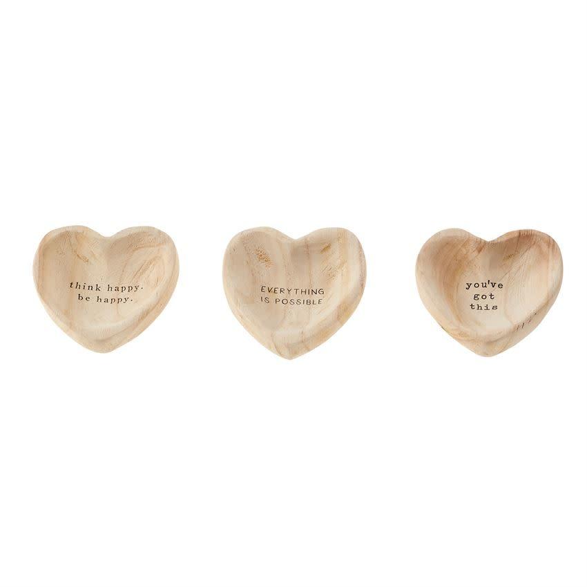 Mudpie POSSIBLE WOOD HEART TRINKET
