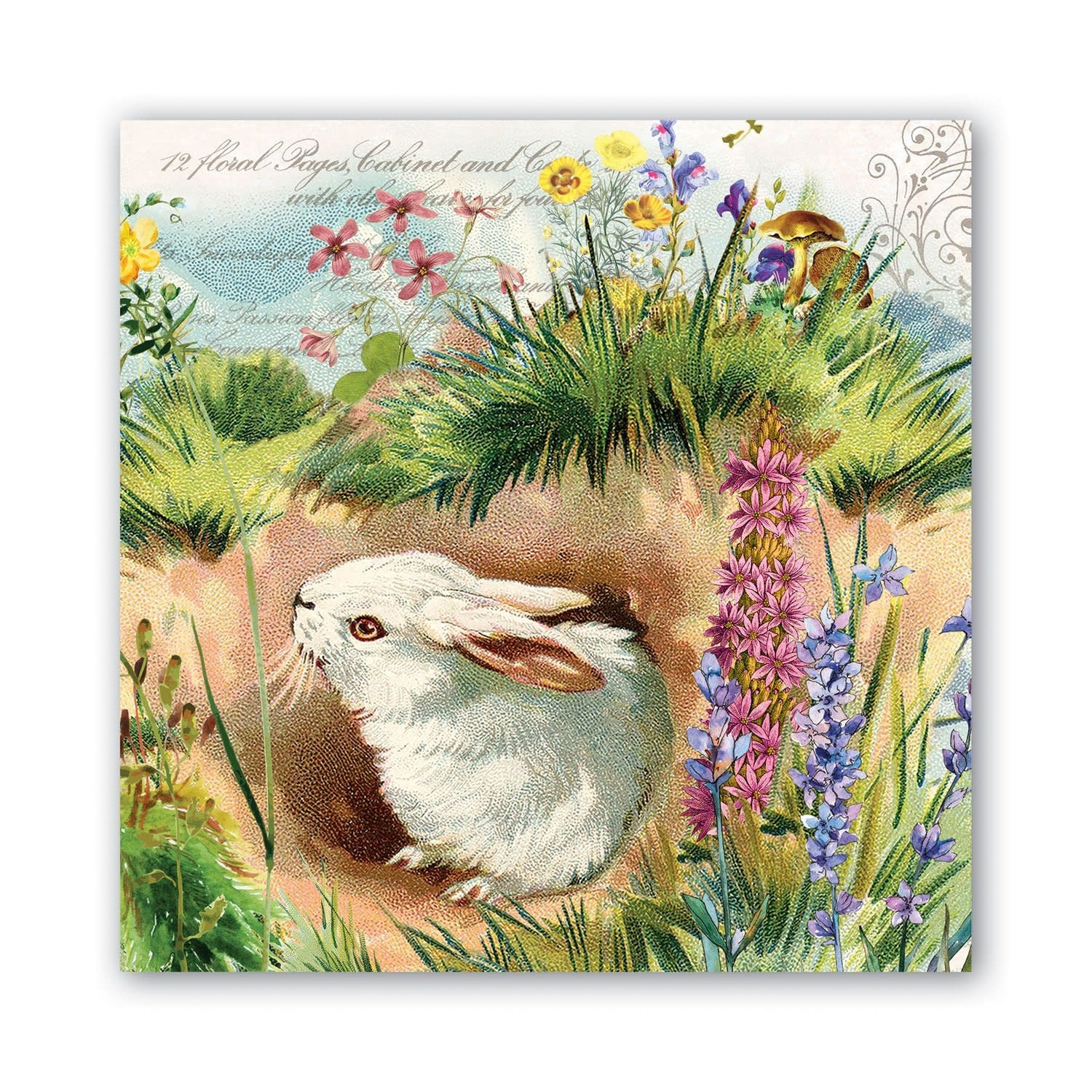 Michel Design Works Bunny Hollow Luncheon Napkin