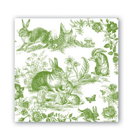 Michel Design Works Bunny Toile Cocktail Napkin