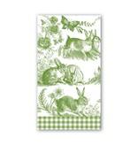 Michel Design Works Bunny Toile Hostess Napkin