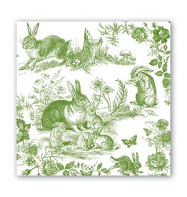 Michel Design Works Bunny Toile Luncheon Napkin