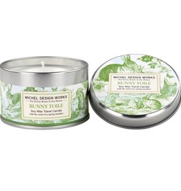Michel Design Works Bunny Toile Travel Candle