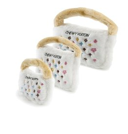 Haute Diggity Dog WHITE CHEWY VUITON PURSE - XL