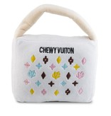 Haute Diggity Dog WHITE CHEWY VUITON PURSE - LARGE