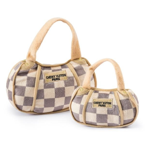Haute Diggity Dog CHECKER CHEWY VUITON PURSE - LARGE