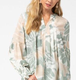 Fleurish Home Sage Luxe Tie Dye Blouse