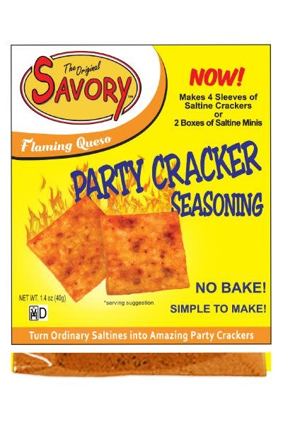 Savory Fine Foods Flaming Queso Party Cracker Seasoning Mix by Savory