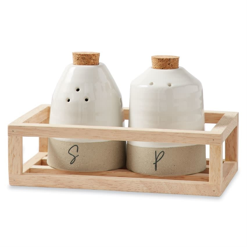 Mudpie SALT AND PEPPER SHAKER CADDY