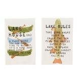 Mudpie CANOE LAKE COTTON TOWEL