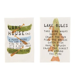 Mudpie CANOE LAKE COTTON TOWEL