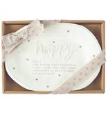 Mudpie HAPPY DEFINITION PLATE