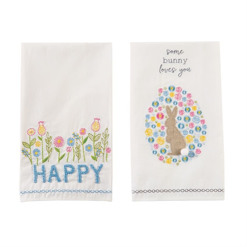 Mudpie SOME BUNNY SPRING TEA TOWEL *last chance