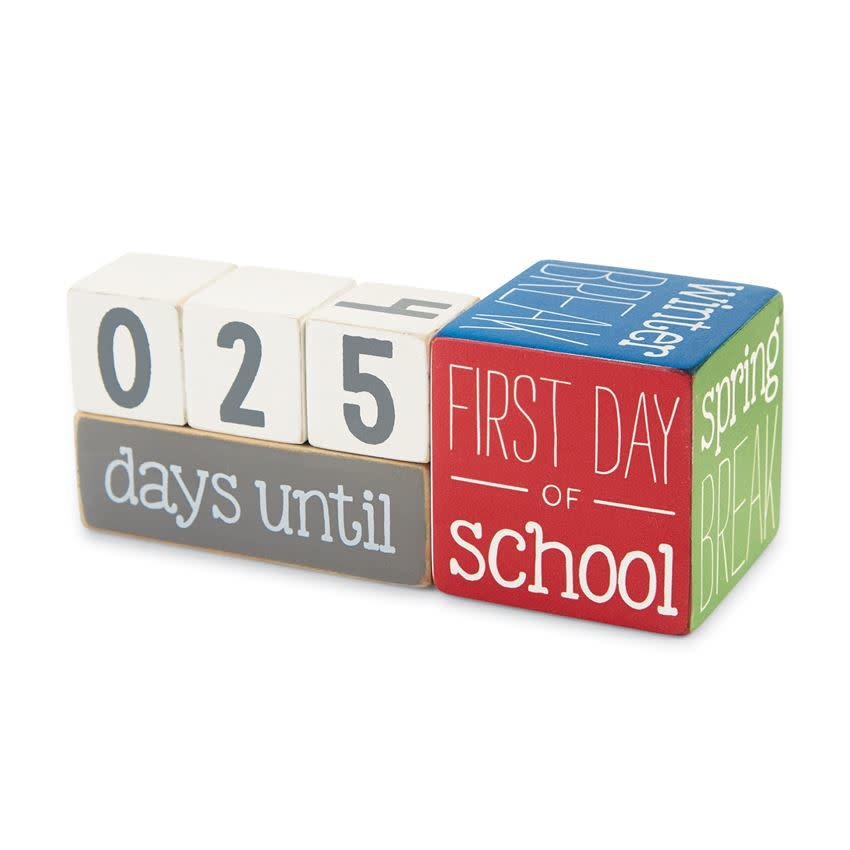 Mudpie TEACHER BREAK COUNTDOWN BLOCKS *new