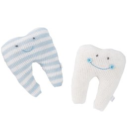 Mudpie BLUE STRIPE TOOTH PILLOW