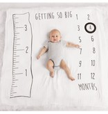 Mudpie MUSLIN WATCH ME GROW PHOTO BLANKET