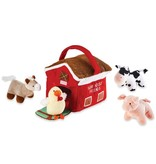 Mudpie FARM HOUSE PLUSH SET