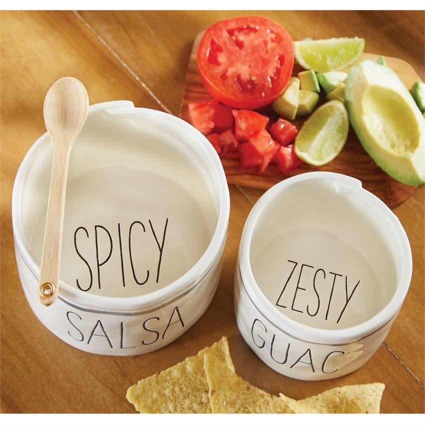 Mudpie SALSA AND GUAC NESTED BOWL SET