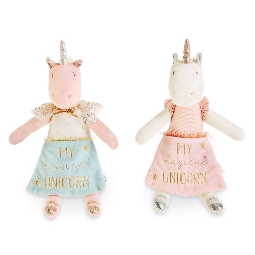 Mudpie IVORY UNICORN DOLL BOOK