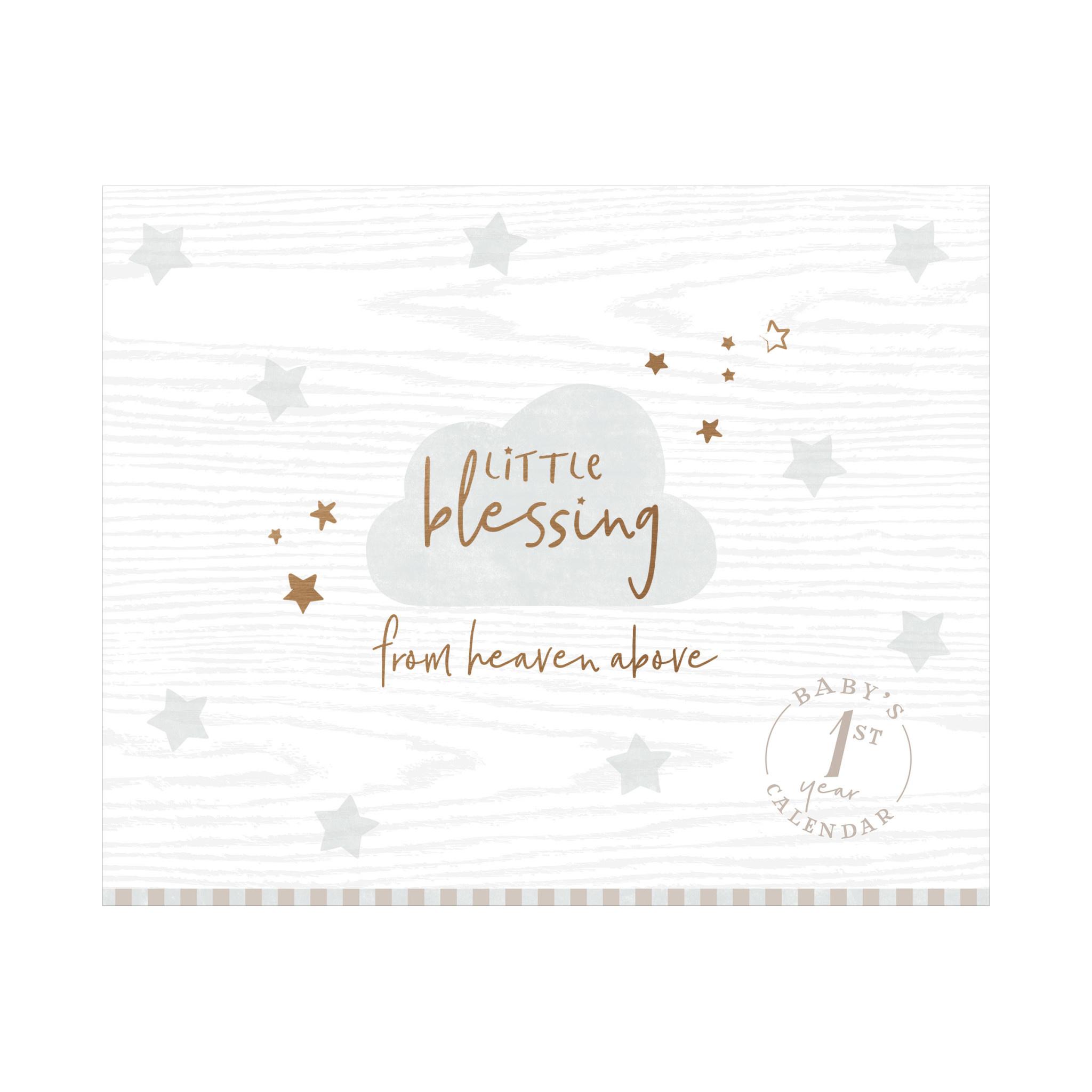 Fleurish Home Little Blessing First Year Keepsake Calendar