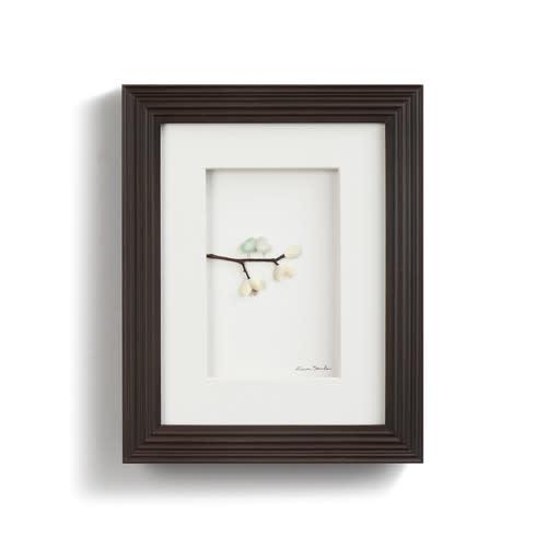 Sharon Nowlan Love Birds Pebble Art 10x8