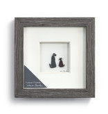 "Fleurish Home Furever Friends Pebble Art  6"" Square"