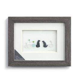 Fleurish Home Puppy Dog Tails Pebble Art  10x8