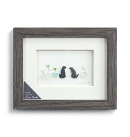 Sharon Nowlan Puppy Dog Tails Pebble Art  10x8