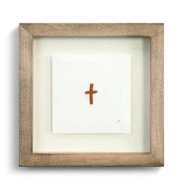 Johanna Miller Cross Sewn Paper Art  7.5x7.5