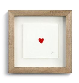 Johanna Miller Heart Sewn Paper Art  7.5x7.5