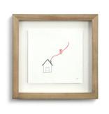 Johanna Miller Home Sewn Paper Art  9.5x9.5