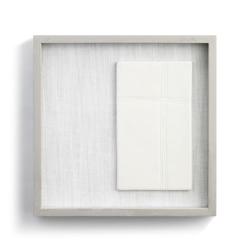 "Fleurish Home Balanced in Faith Framed Ceramic Art  10"" Square"