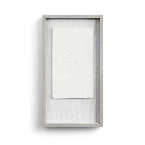 Fleurish Home Quiet Breeze Framed Ceramic Art  8x15