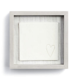 "Fleurish Home Love in Every Corner Framed Ceramic Art  6"" Square"