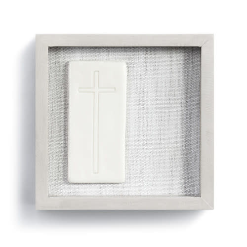 "Fleurish Home Unwavering Faith Framed Ceramic Art  6"" Square"