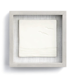 "Fleurish Home Calming Tides Framed Ceramic Art 6"" Square"