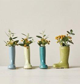 "Fleurish Home Mini Stoneware Boot Vase (Choice of 4 Colors) 4"" Tall"